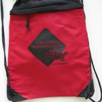 red cinch bag